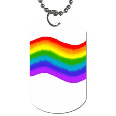 Watercolour Rainbow Colours Dog Tag (Two Sides)