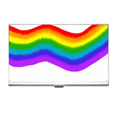 Watercolour Rainbow Colours Business Card Holders