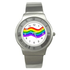 Watercolour Rainbow Colours Stainless Steel Watch