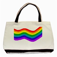 Watercolour Rainbow Colours Basic Tote Bag