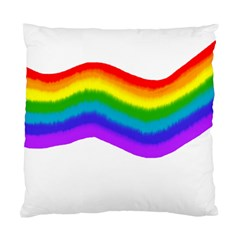Watercolour Rainbow Colours Standard Cushion Case (One Side)
