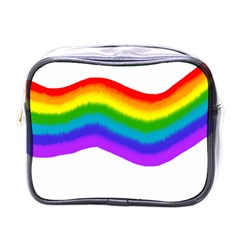 Watercolour Rainbow Colours Mini Toiletries Bags