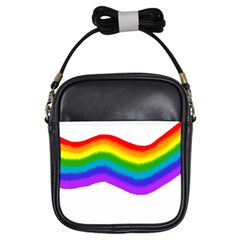 Watercolour Rainbow Colours Girls Sling Bags