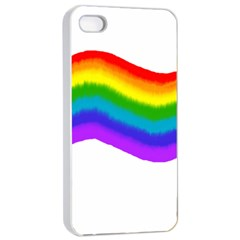 Watercolour Rainbow Colours Apple Iphone 4/4s Seamless Case (white)