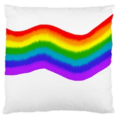 Watercolour Rainbow Colours Large Cushion Case (two Sides)