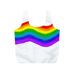 Watercolour Rainbow Colours Full Print Recycle Bags (S)