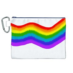 Watercolour Rainbow Colours Canvas Cosmetic Bag (xl)