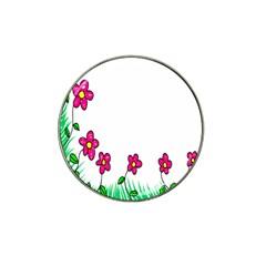 Floral Doodle Flower Border Cartoon Hat Clip Ball Marker