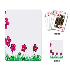 Floral Doodle Flower Border Cartoon Playing Card