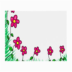 Floral Doodle Flower Border Cartoon Small Glasses Cloth (2-Side)
