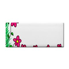 Floral Doodle Flower Border Cartoon Cosmetic Storage Cases