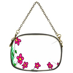 Floral Doodle Flower Border Cartoon Chain Purses (Two Sides)