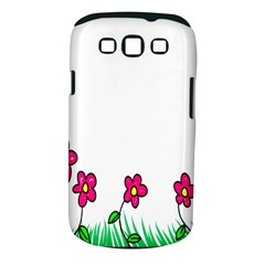 Floral Doodle Flower Border Cartoon Samsung Galaxy S Iii Classic Hardshell Case (pc+silicone)
