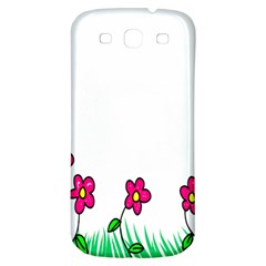 Floral Doodle Flower Border Cartoon Samsung Galaxy S3 S Iii Classic Hardshell Back Case