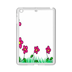 Floral Doodle Flower Border Cartoon Ipad Mini 2 Enamel Coated Cases