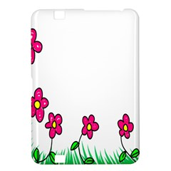 Floral Doodle Flower Border Cartoon Kindle Fire Hd 8 9