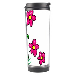 Floral Doodle Flower Border Cartoon Travel Tumbler