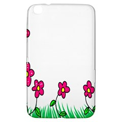 Floral Doodle Flower Border Cartoon Samsung Galaxy Tab 3 (8 ) T3100 Hardshell Case