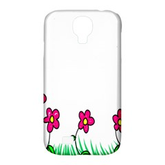 Floral Doodle Flower Border Cartoon Samsung Galaxy S4 Classic Hardshell Case (PC+Silicone)