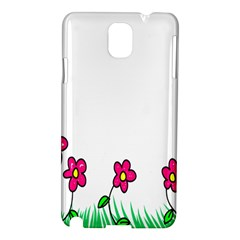 Floral Doodle Flower Border Cartoon Samsung Galaxy Note 3 N9005 Hardshell Case