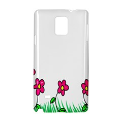 Floral Doodle Flower Border Cartoon Samsung Galaxy Note 4 Hardshell Case