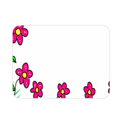 Floral Doodle Flower Border Cartoon Double Sided Flano Blanket (Mini)