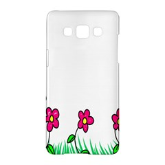 Floral Doodle Flower Border Cartoon Samsung Galaxy A5 Hardshell Case