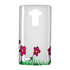 Floral Doodle Flower Border Cartoon LG G4 Hardshell Case