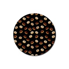 Donuts pattern Rubber Round Coaster (4 pack)