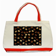 Donuts pattern Classic Tote Bag (Red)