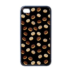 Donuts pattern Apple iPhone 4 Case (Black)