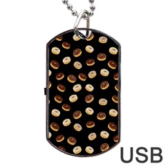 Donuts pattern Dog Tag USB Flash (Two Sides)