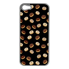 Donuts pattern Apple iPhone 5 Case (Silver)