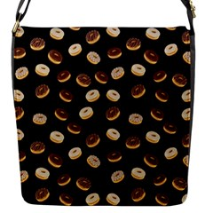 Donuts pattern Flap Messenger Bag (S)