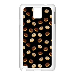 Donuts pattern Samsung Galaxy Note 3 N9005 Case (White)