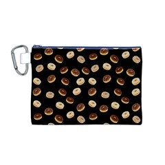 Donuts pattern Canvas Cosmetic Bag (M)