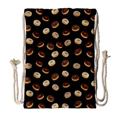 Donuts pattern Drawstring Bag (Large)