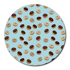 Donuts pattern Round Mousepads