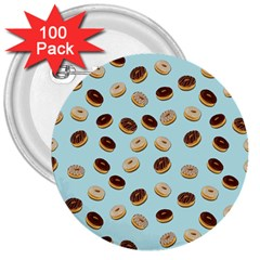 Donuts pattern 3  Buttons (100 pack)