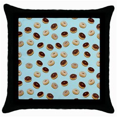 Donuts pattern Throw Pillow Case (Black)