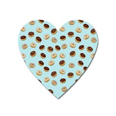Donuts pattern Heart Magnet