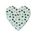 Donuts pattern Heart Magnet Front