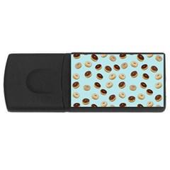 Donuts pattern USB Flash Drive Rectangular (1 GB)