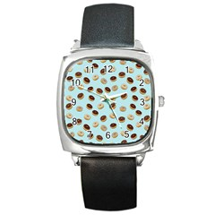 Donuts pattern Square Metal Watch