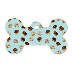 Donuts Pattern Dog Tag Bone (two Sides)