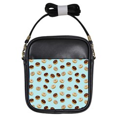 Donuts pattern Girls Sling Bags