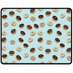 Donuts pattern Fleece Blanket (Medium)