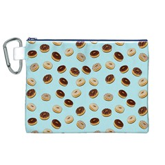 Donuts pattern Canvas Cosmetic Bag (XL)
