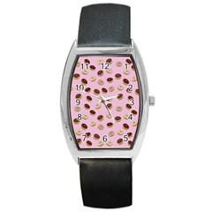 Donuts pattern Barrel Style Metal Watch