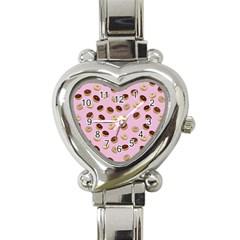 Donuts pattern Heart Italian Charm Watch